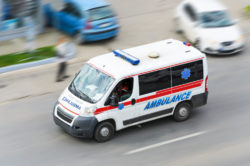 Car accidents caused by emergency vehicles